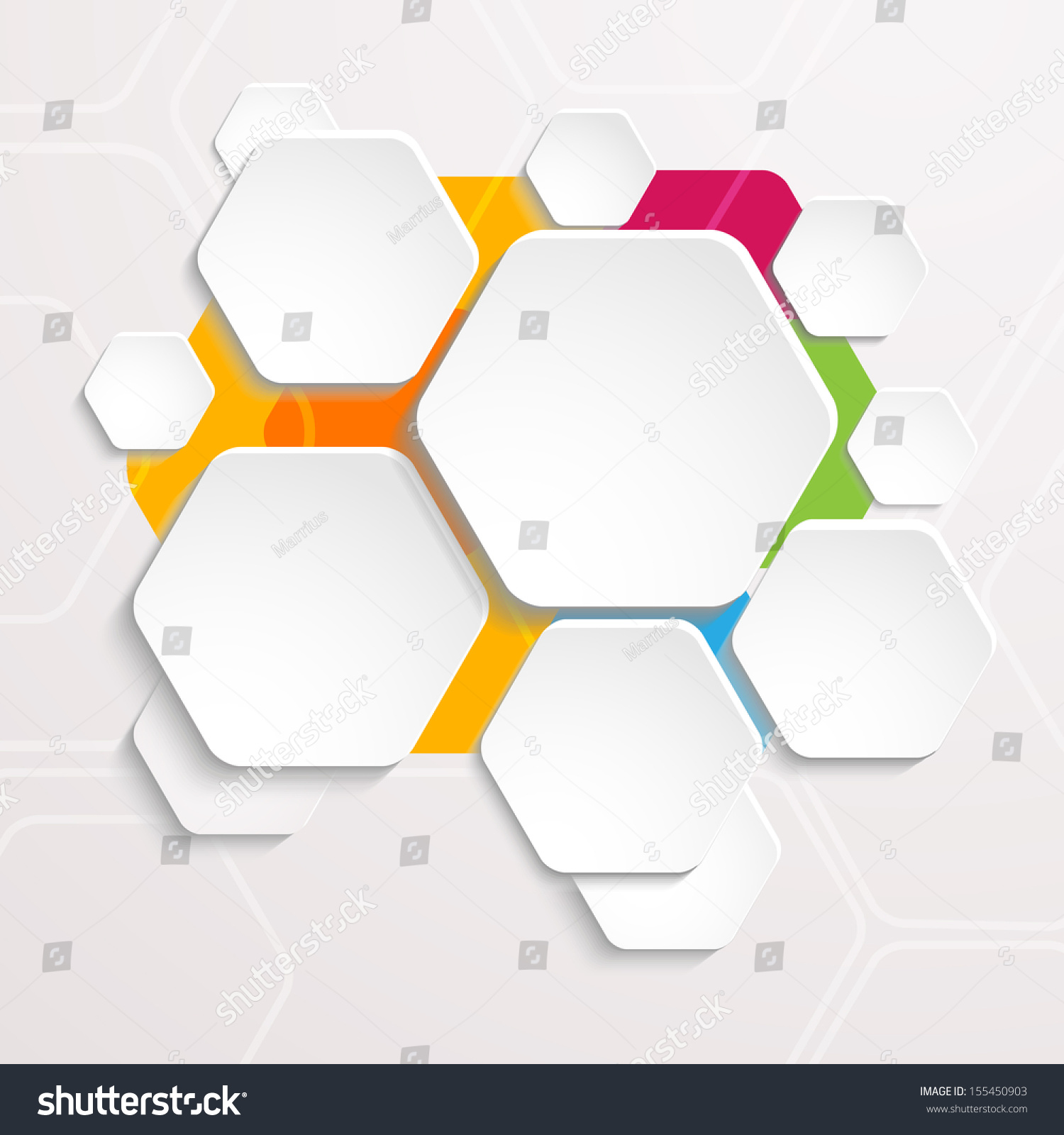 Background Polygons Cut Paper Design Template Stock Illustration