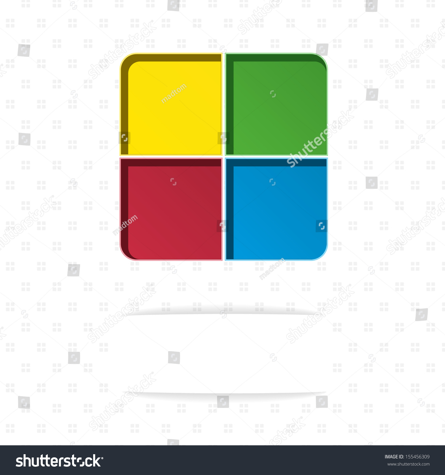blank template made out four color stock vector royalty free