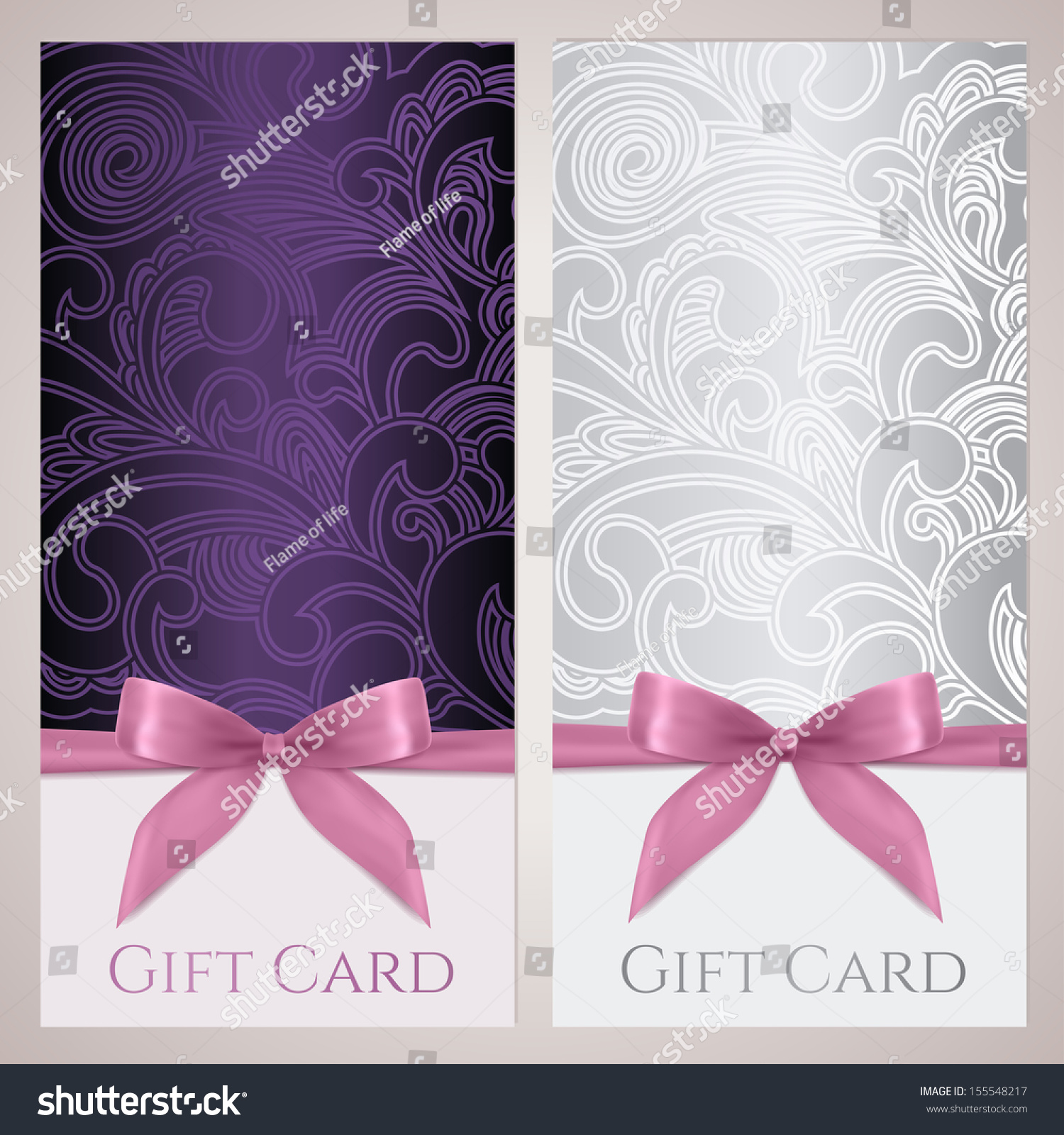 voucher gift certificate coupon gift card stock illustration voucher gift certificate coupon gift card tag template gift bow