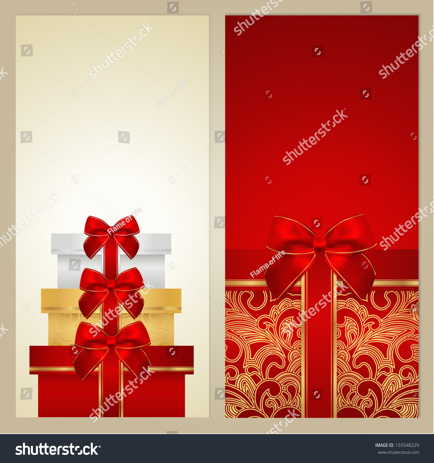 Voucher Gift Certificate Coupon Gift Card Stock Illustration