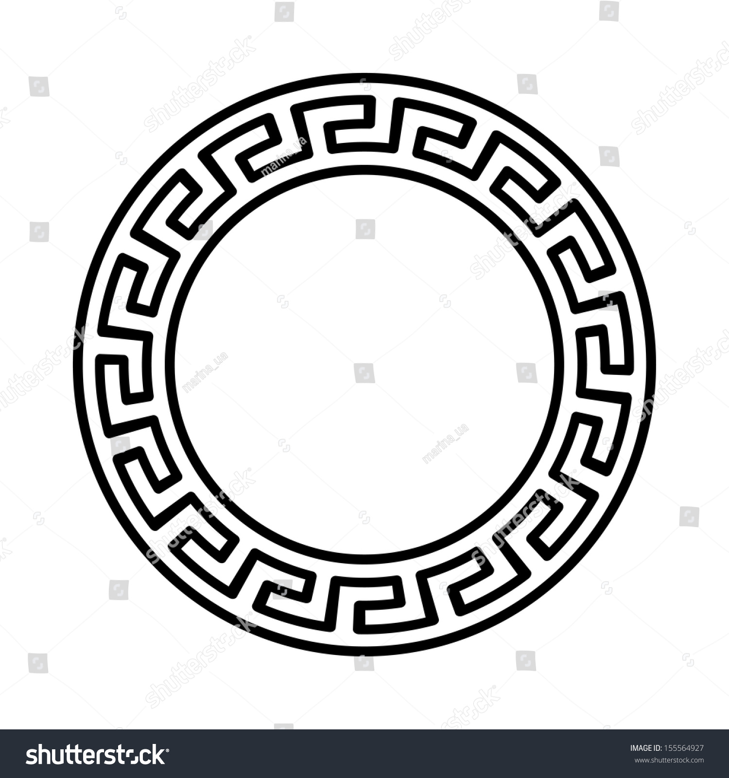 Circle ornament round frame rosette ancient stock vector 155564927 circle ornament round frame rosette of ancient elements greek national antique round pattern biocorpaavc Image collections