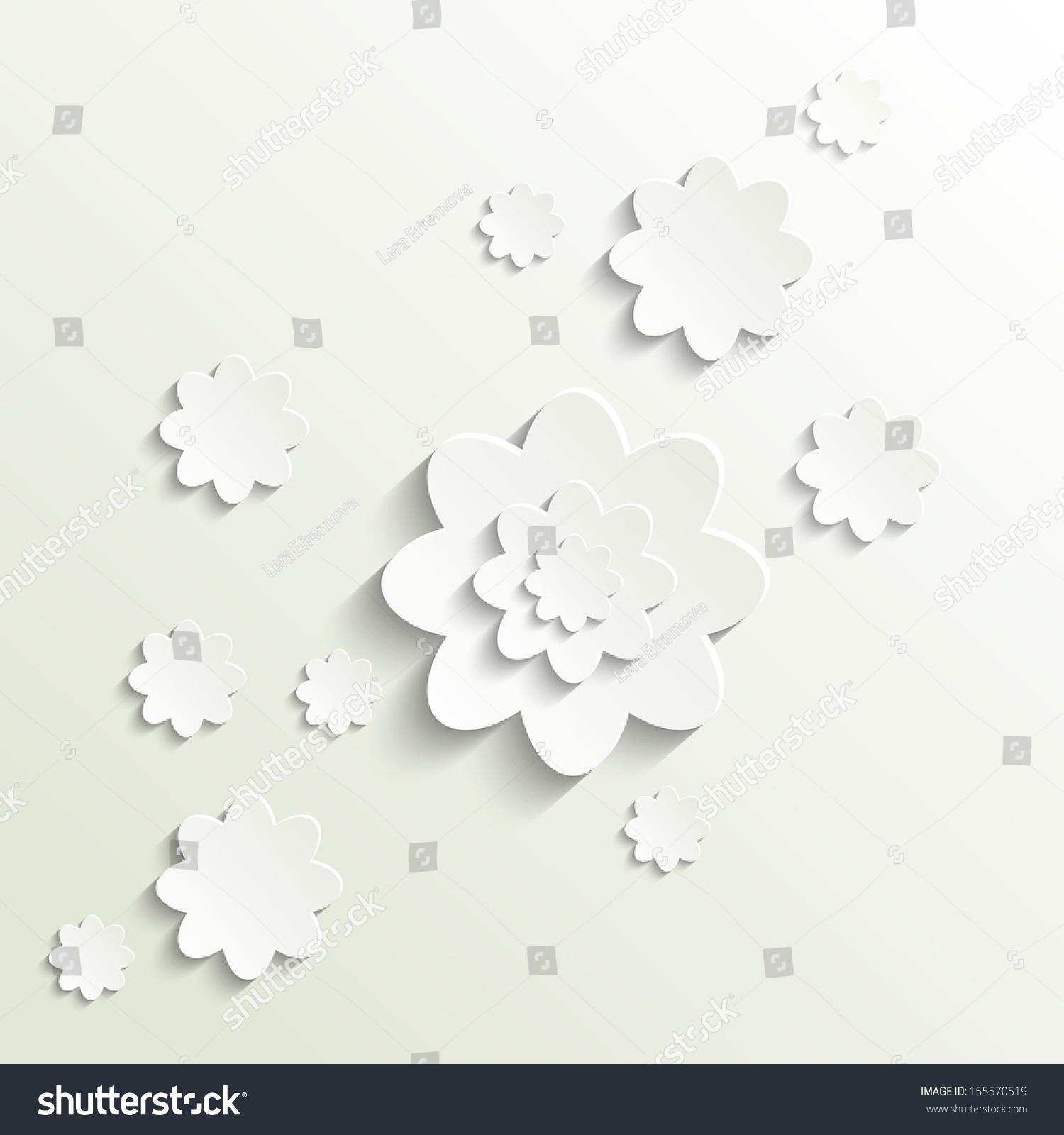 Cutout Paper Flowers Vector Stock Vector 155570519 Shutterstock