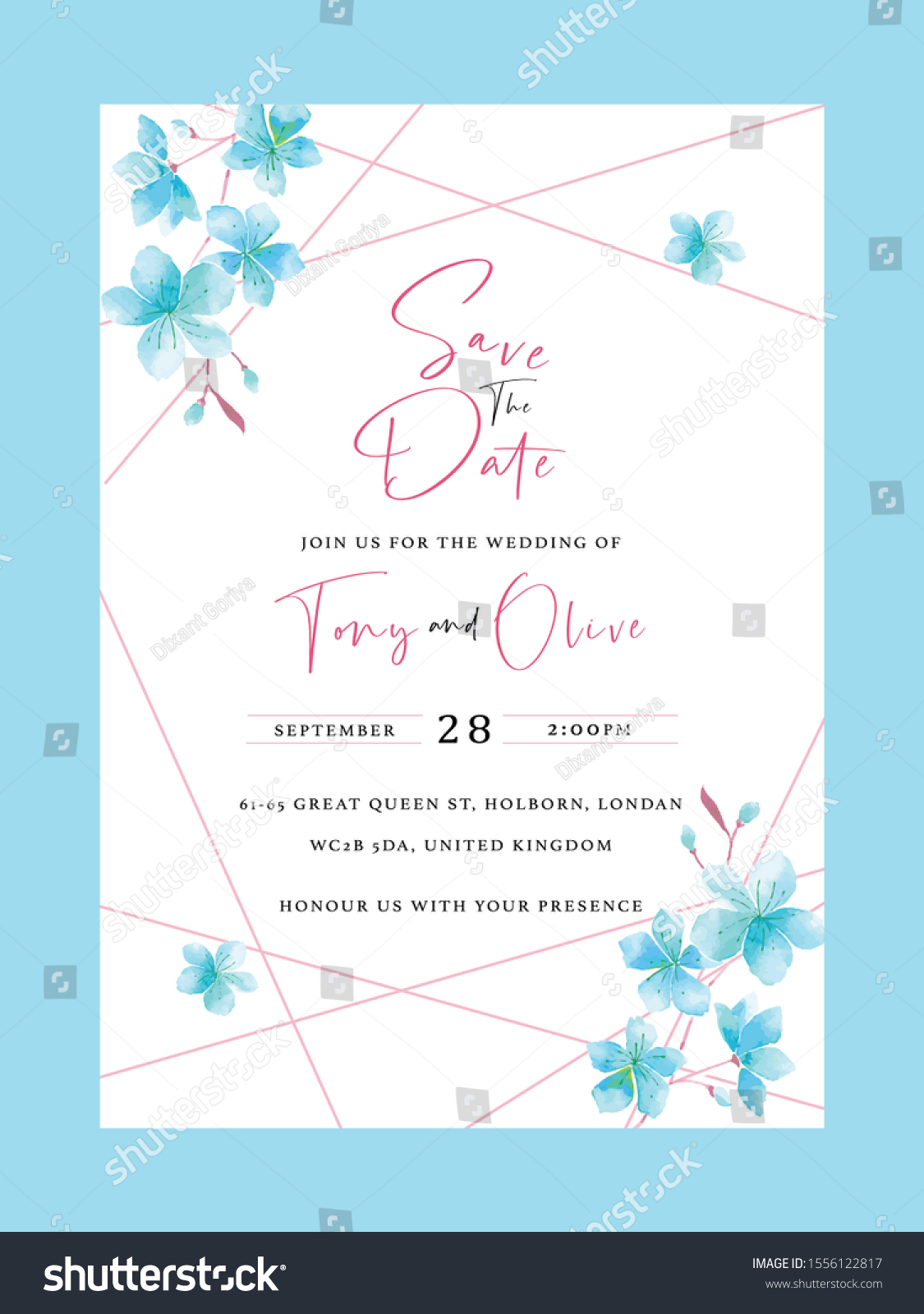 Wedding Invitation Card Template Text Engagement Stock Vector (Royalty  Free) 1556122817