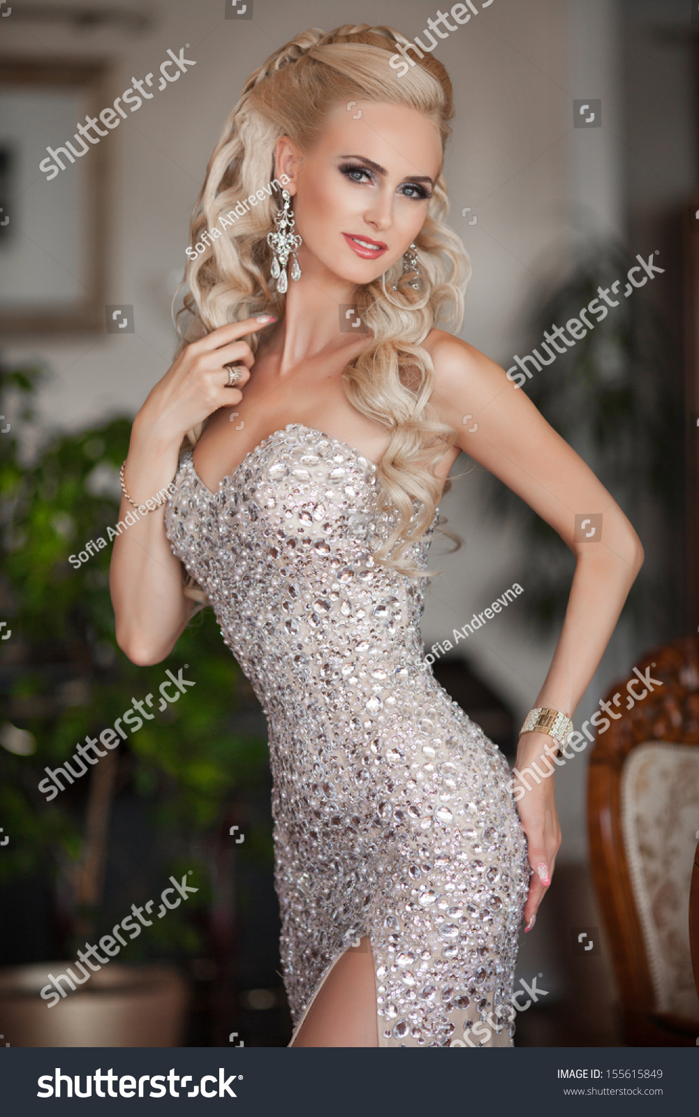 Royalty free beautiful young sexy woman in luxurious for Luxury women