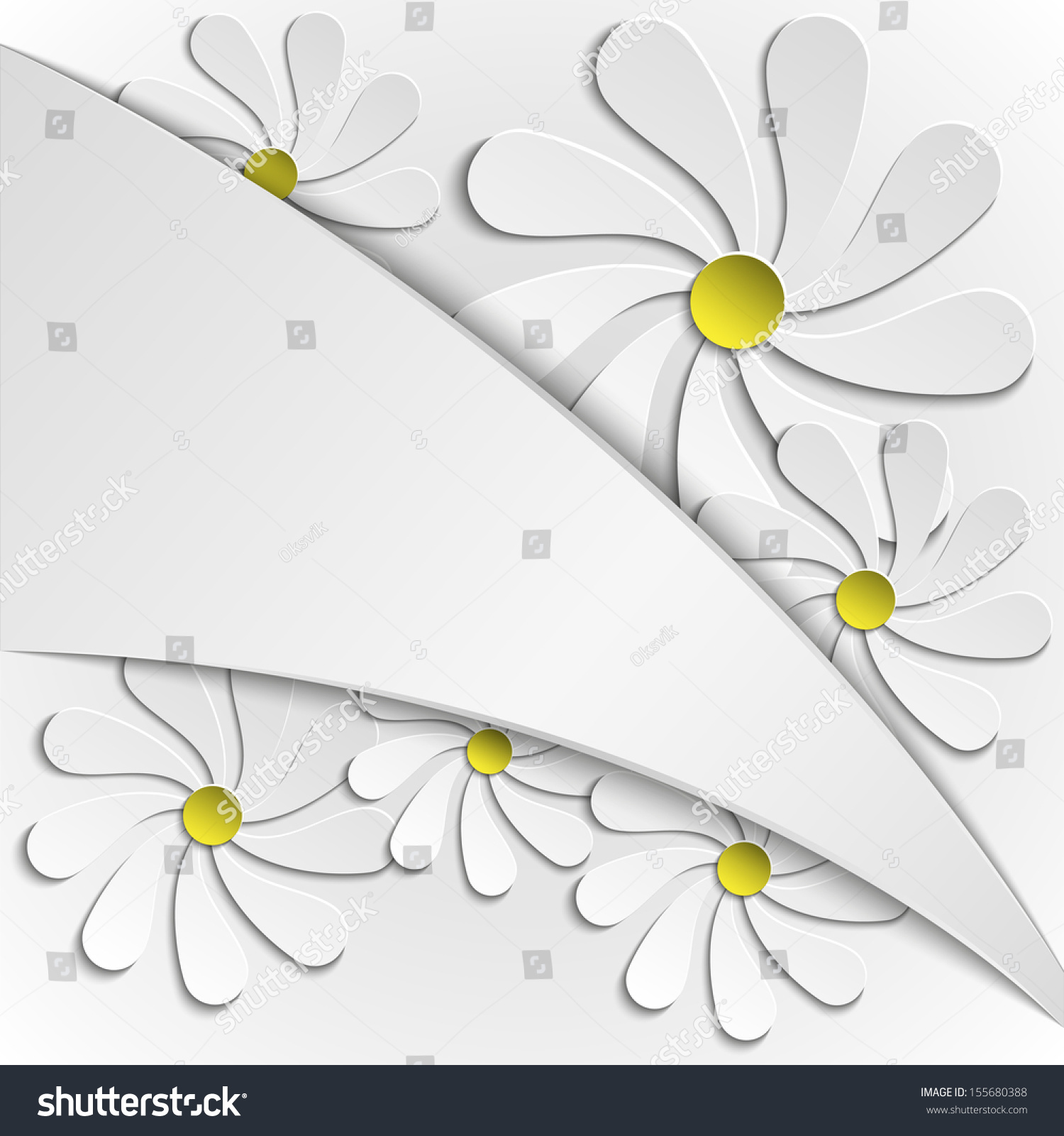 Abstract Background Simple Paper Flowers Stock Vector Hd Royalty