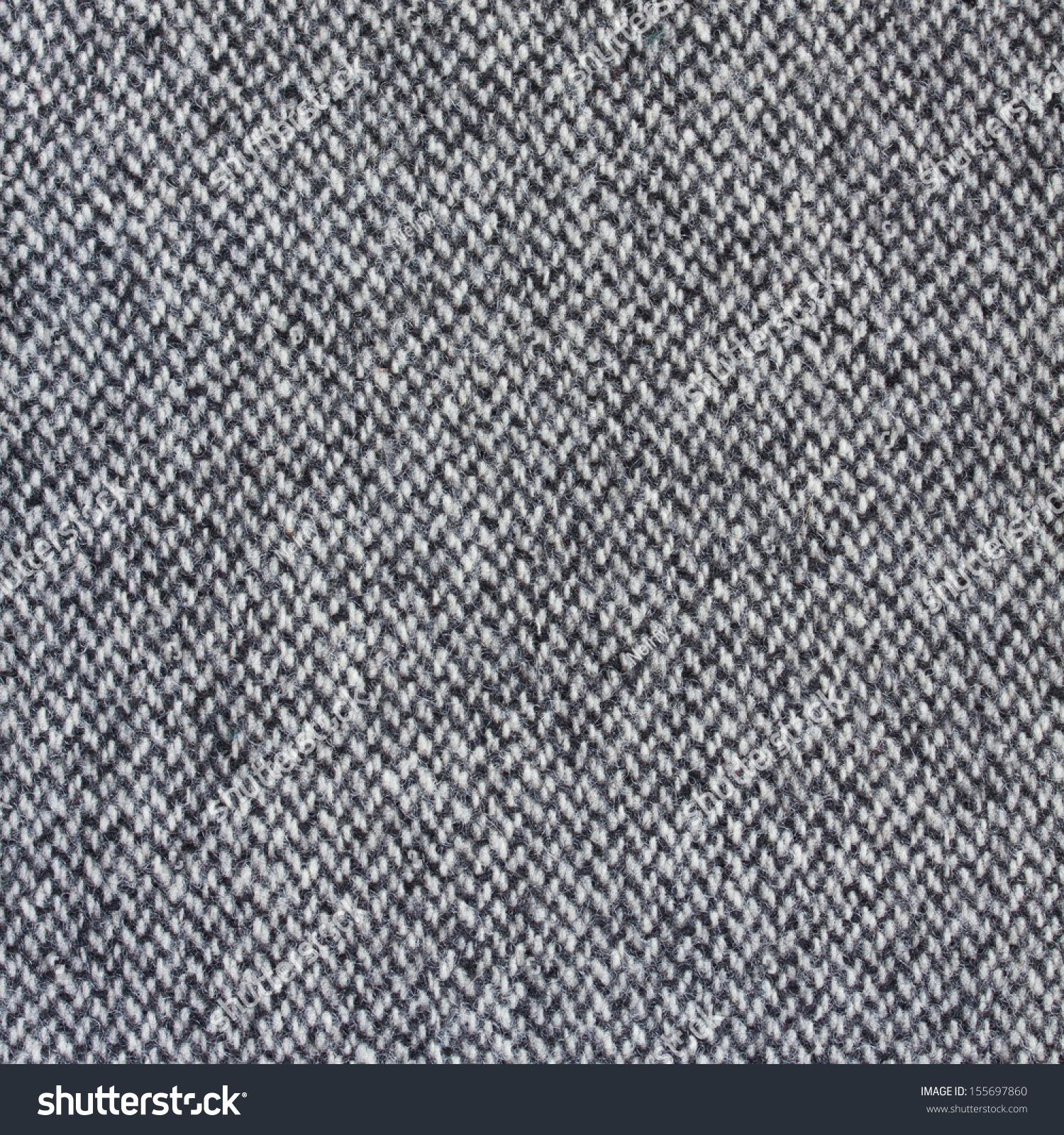 Tweed Fabric Herringbone Texture Wool Pattern Stock Photo