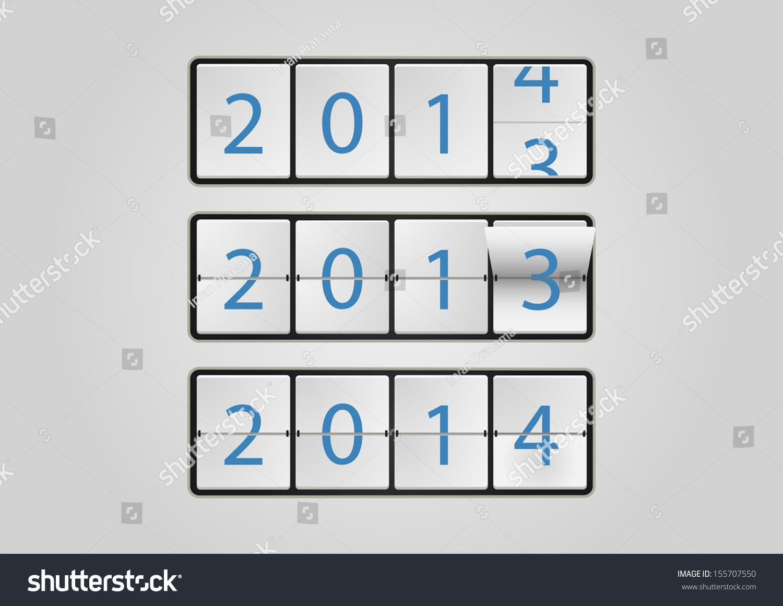Calendar Illustration Board : Ticker board calendar stock vector illustration