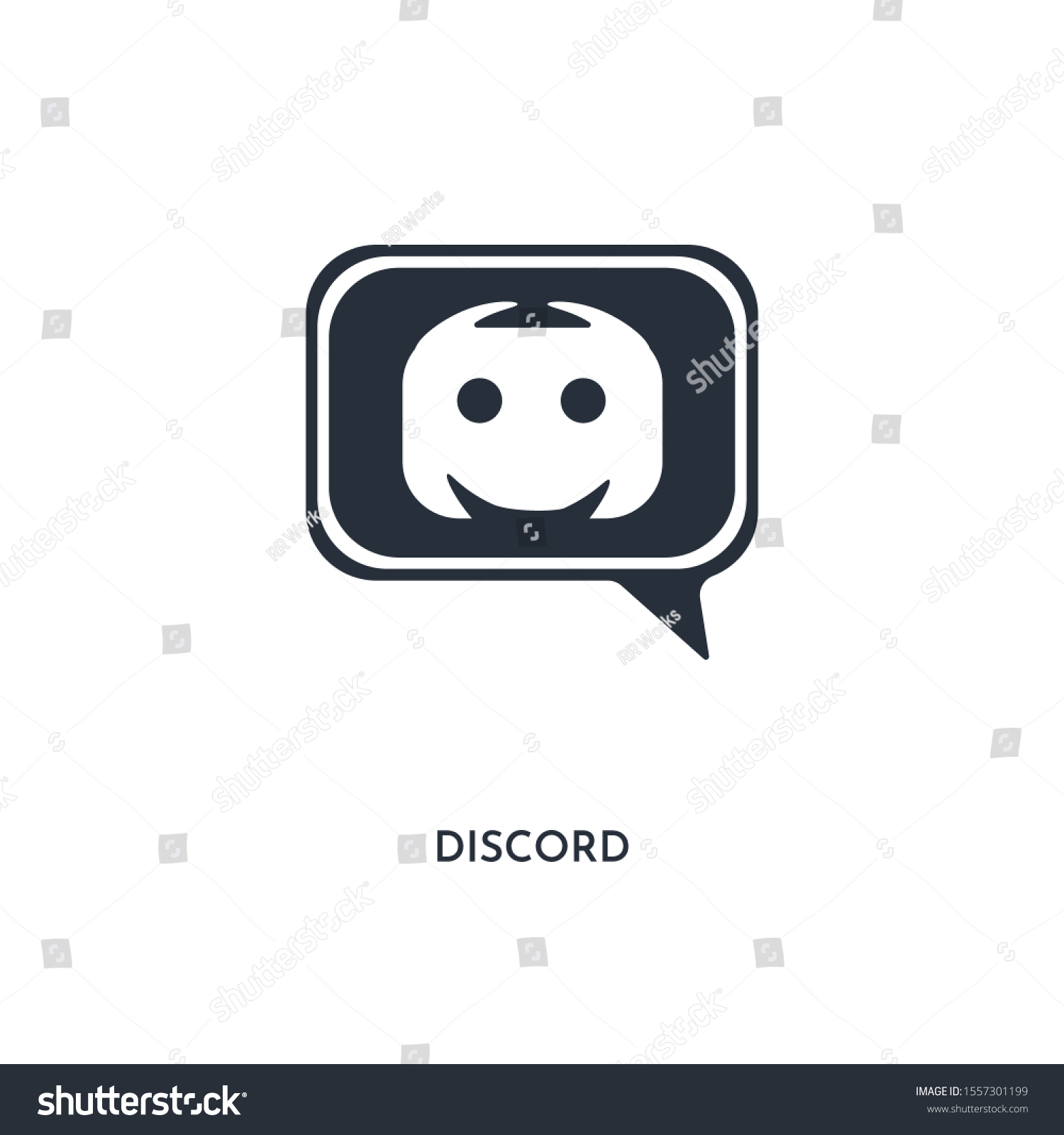 Discord Icon Simple Element Illustration Isolated Stock Vector