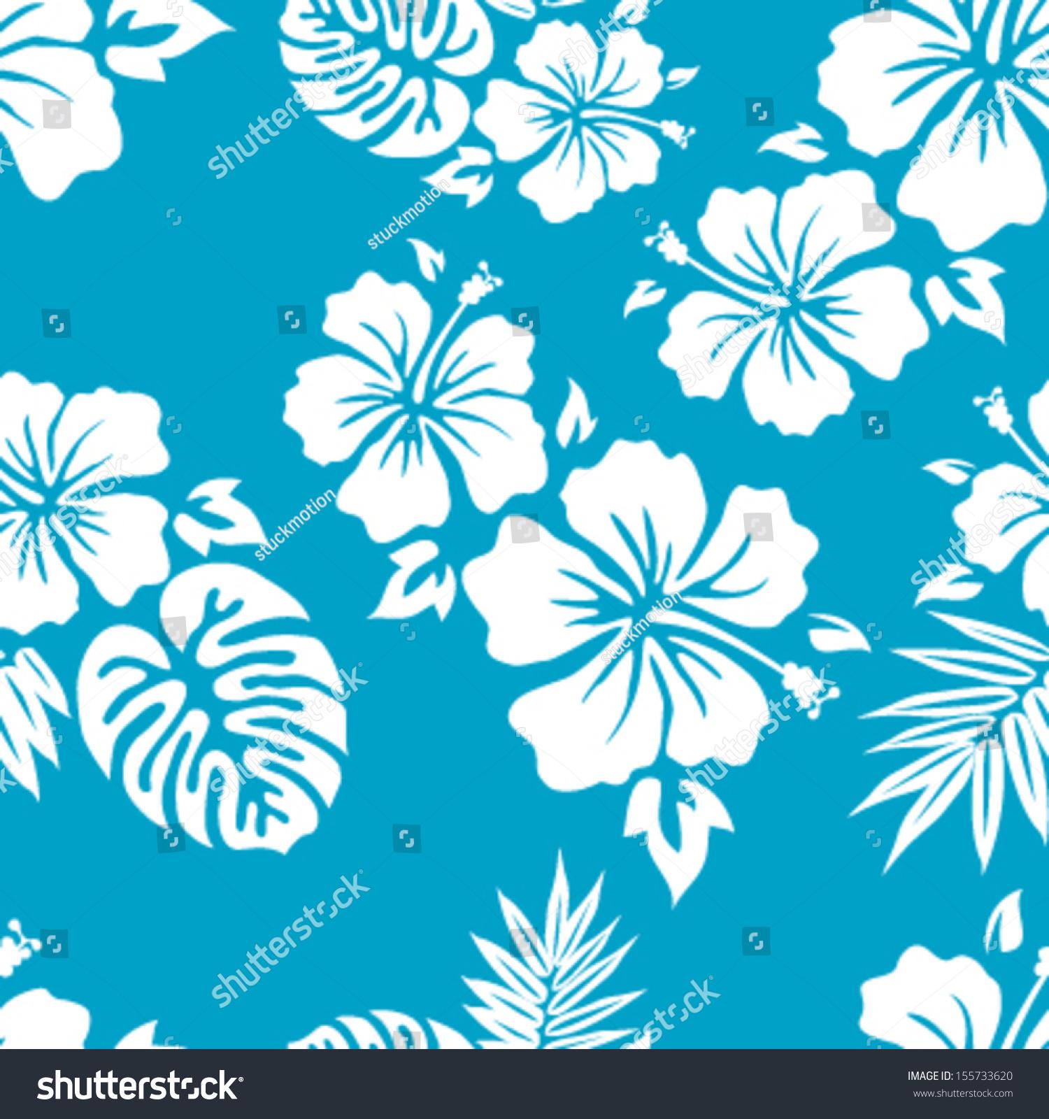 Hawaiian Aloha Shirt Seamless Background Pattern 155733620