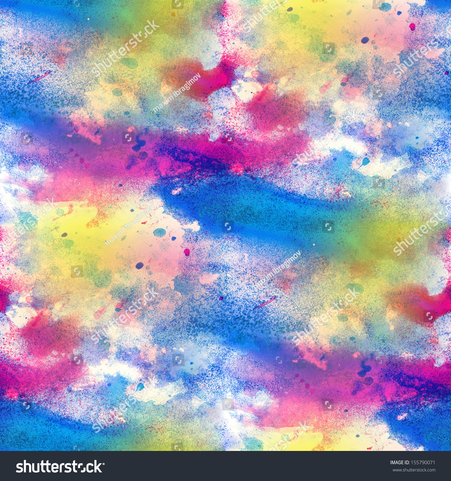 Artist Art Blue Red Watercolor Background Seamless Paint