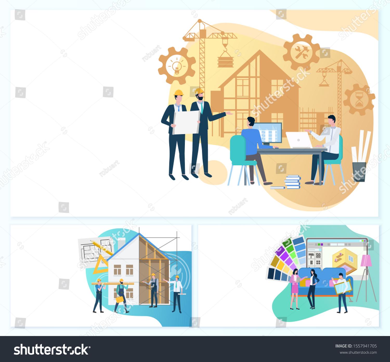 Project Management Construction Interior Design Raster Stock ...