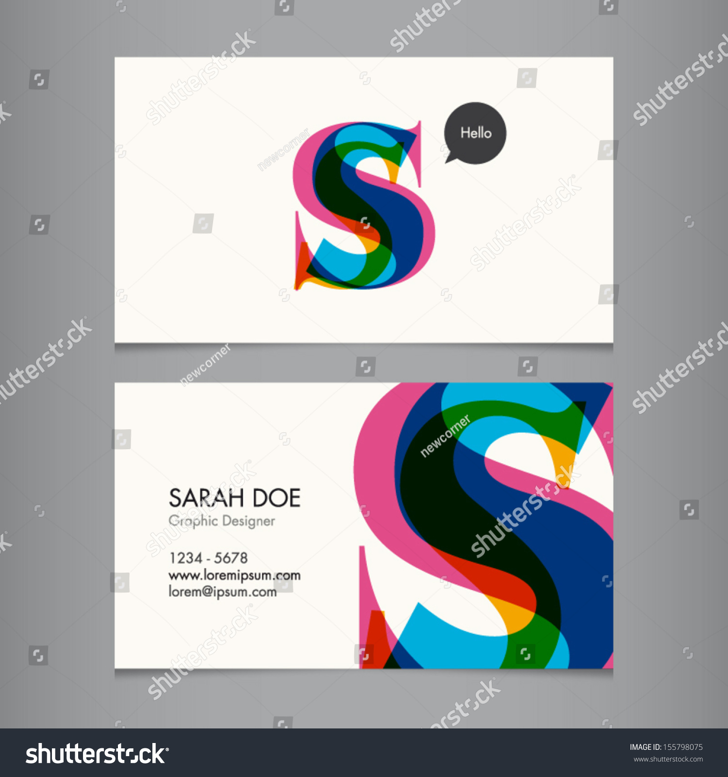 Business card template letter s stock vector hd royalty free business card template letter s thecheapjerseys Gallery