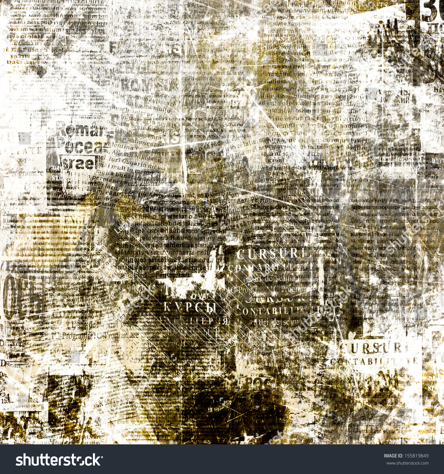 grunge abstract newspaper background design old stock illustration