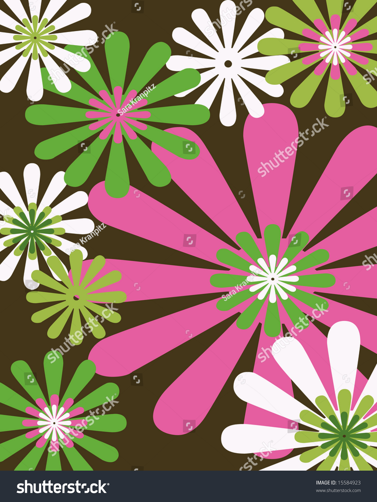 vintage floral brown css html retro brown pink and green floral background stock photo