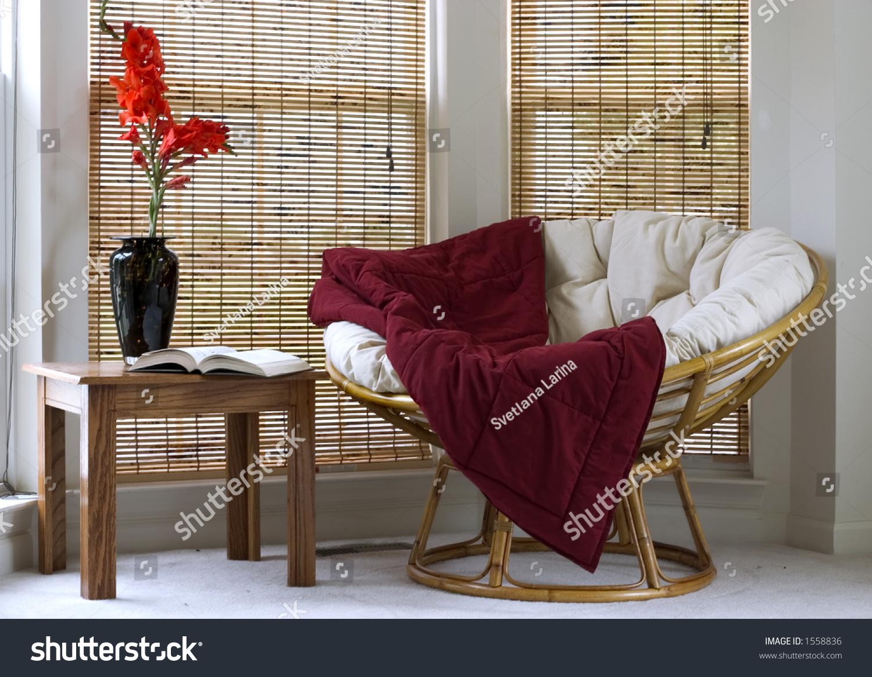 Papasan Chair In Living Room Interior Papasan Chair Stock Photo 1558836 Shutterstock