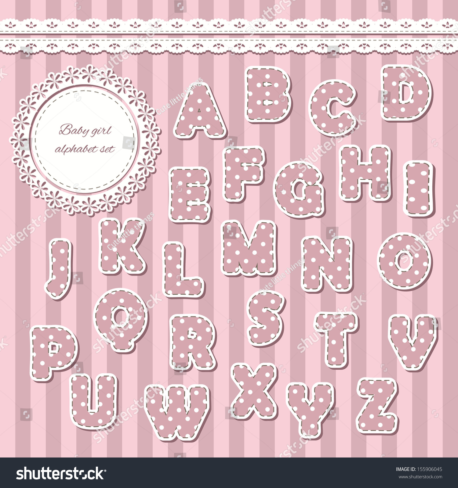 Baby Girl Abc Letters Can Be Stock Vector Hd Royalty Free