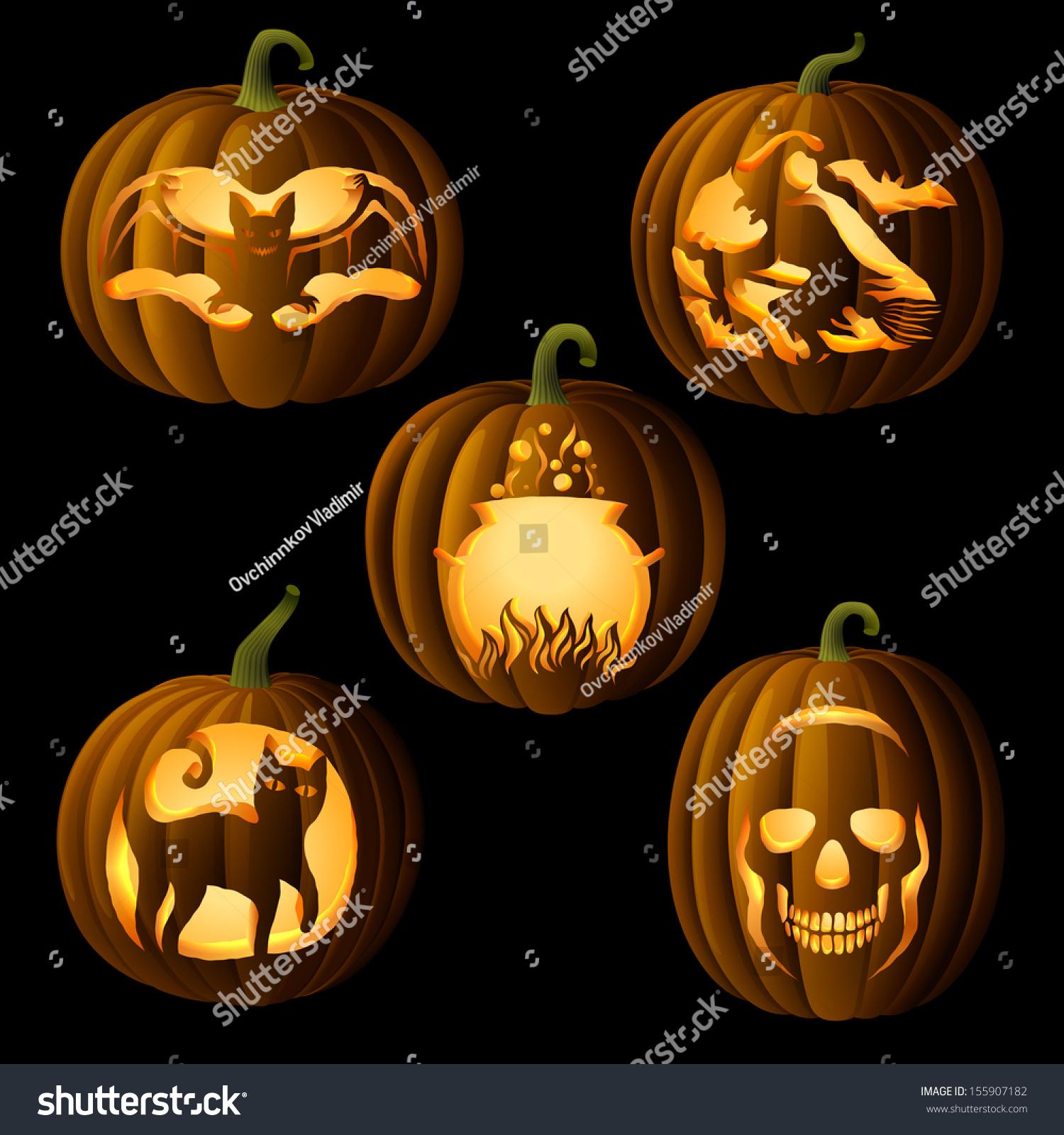 Uncategorized Original Jack O Lantern set original jack o lanterns halloween stock vector 155907182 of with symbols cut on pumpkin detailed illustration