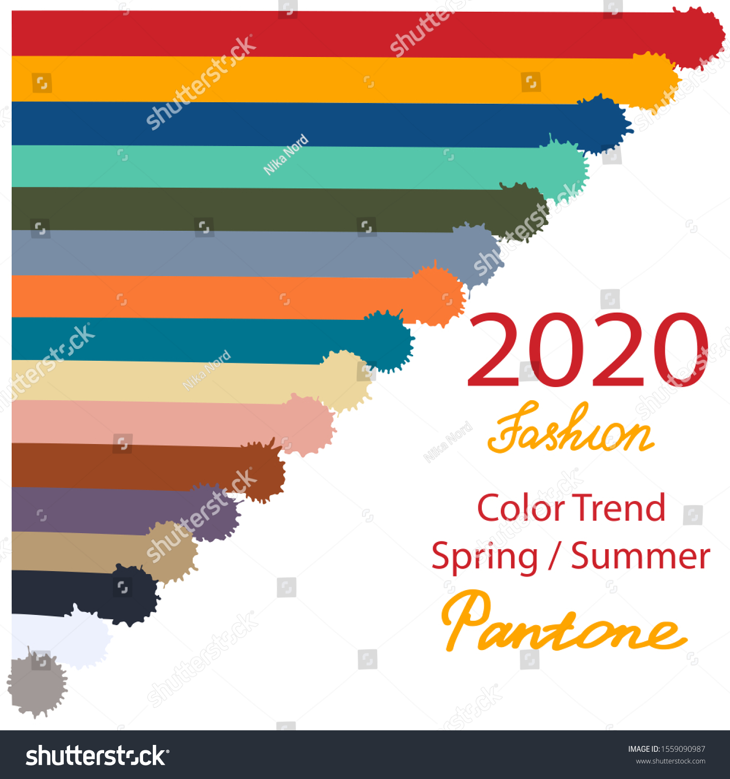 Colors Trends Spring Summer 2020 Vector Stock Vector Royalty Free 1559090987