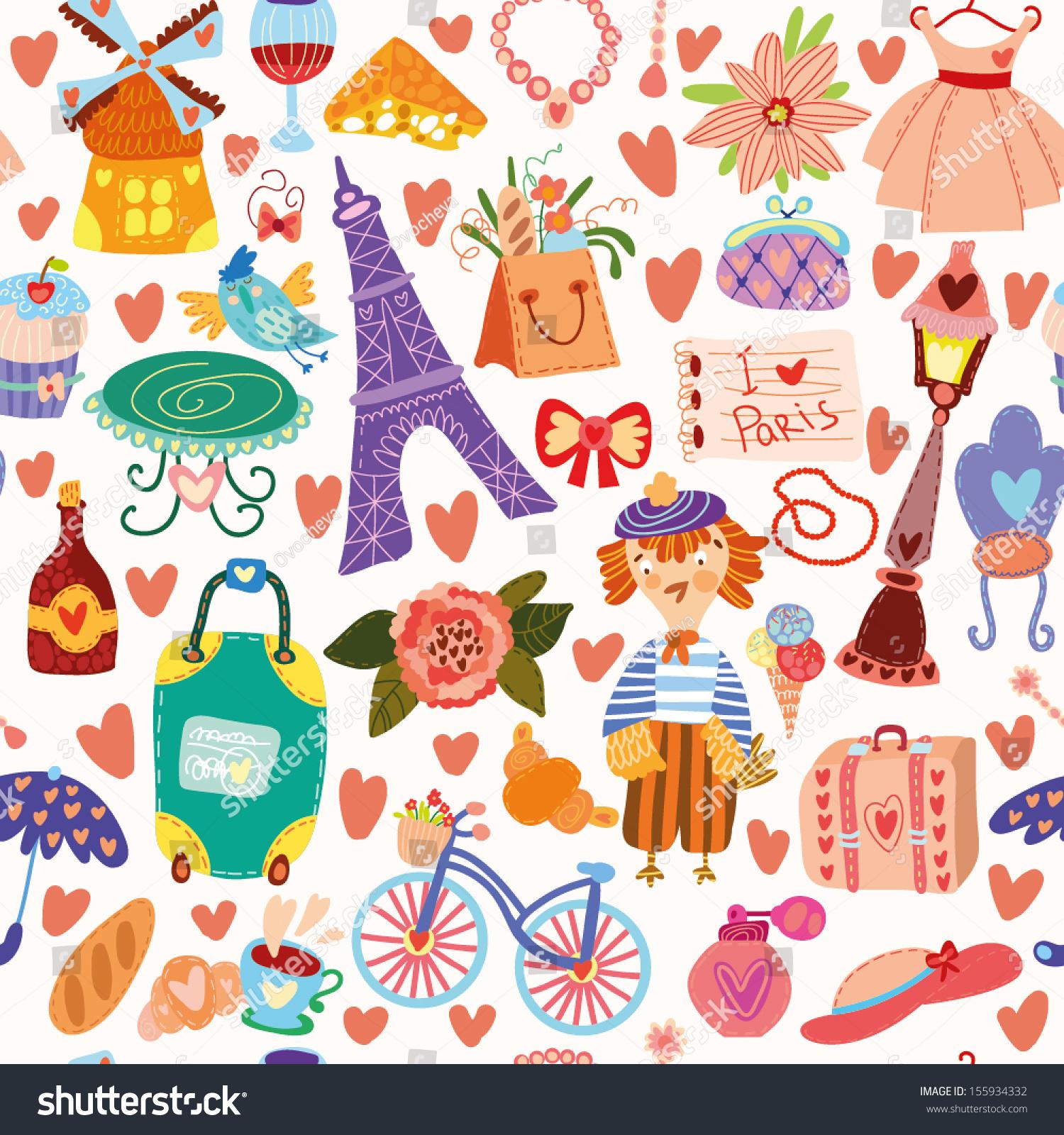 Gambar Wallpaper Paris Kartun Gudang Wallpaper