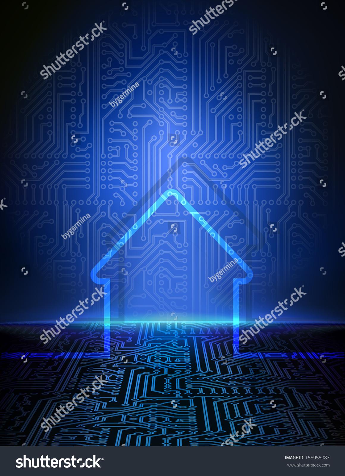 Vector Smart Home Concept. House Automation Futuristic ...