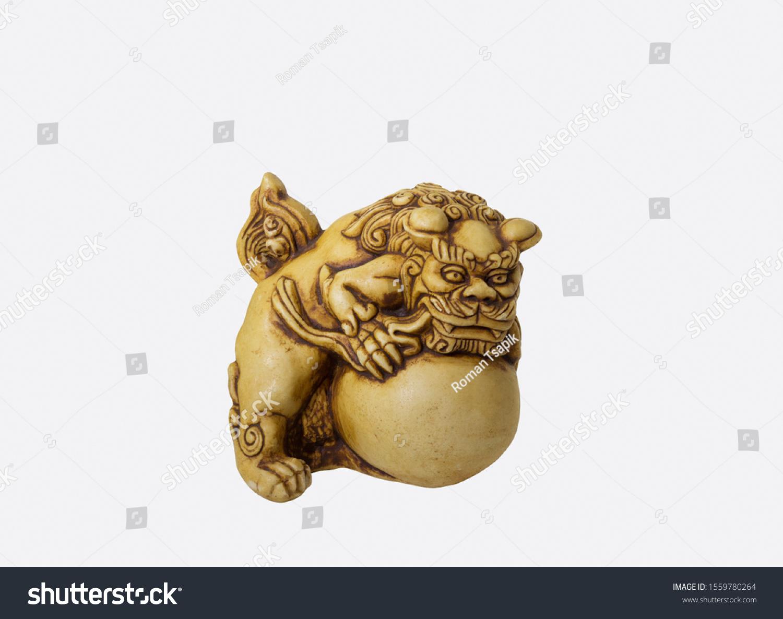 Asian Figurine Carved White Bone Netsuke Stock Photo Edit Now 1559780264