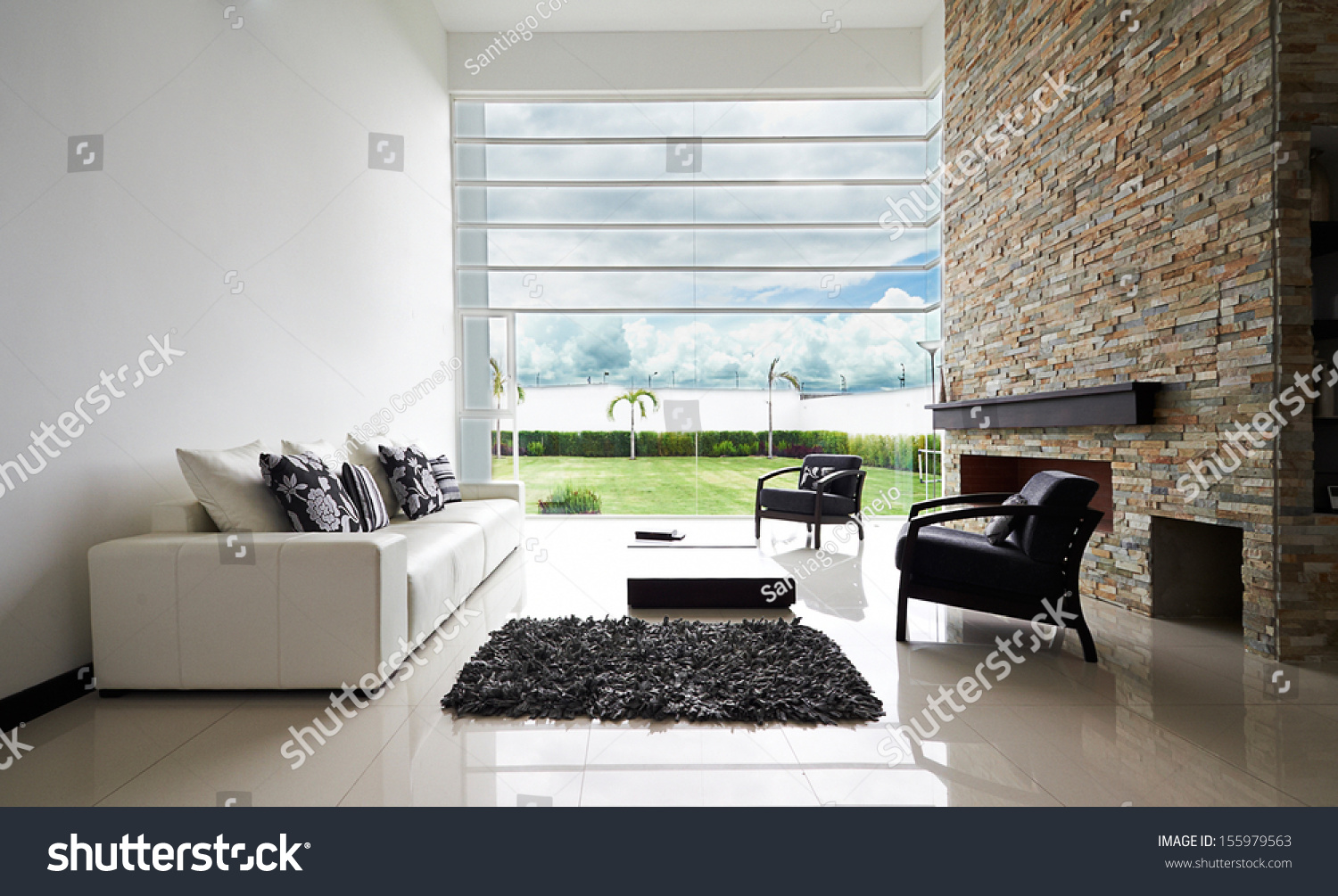 Big empty living room -  Living Room With Big Empty White Wall Preview Save To A Lightbox