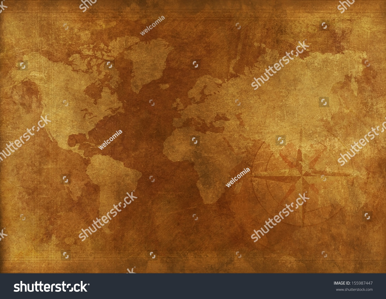 Aged world map vintage background backgrounds stock illustration aged world map vintage background backgrounds collection gumiabroncs Gallery