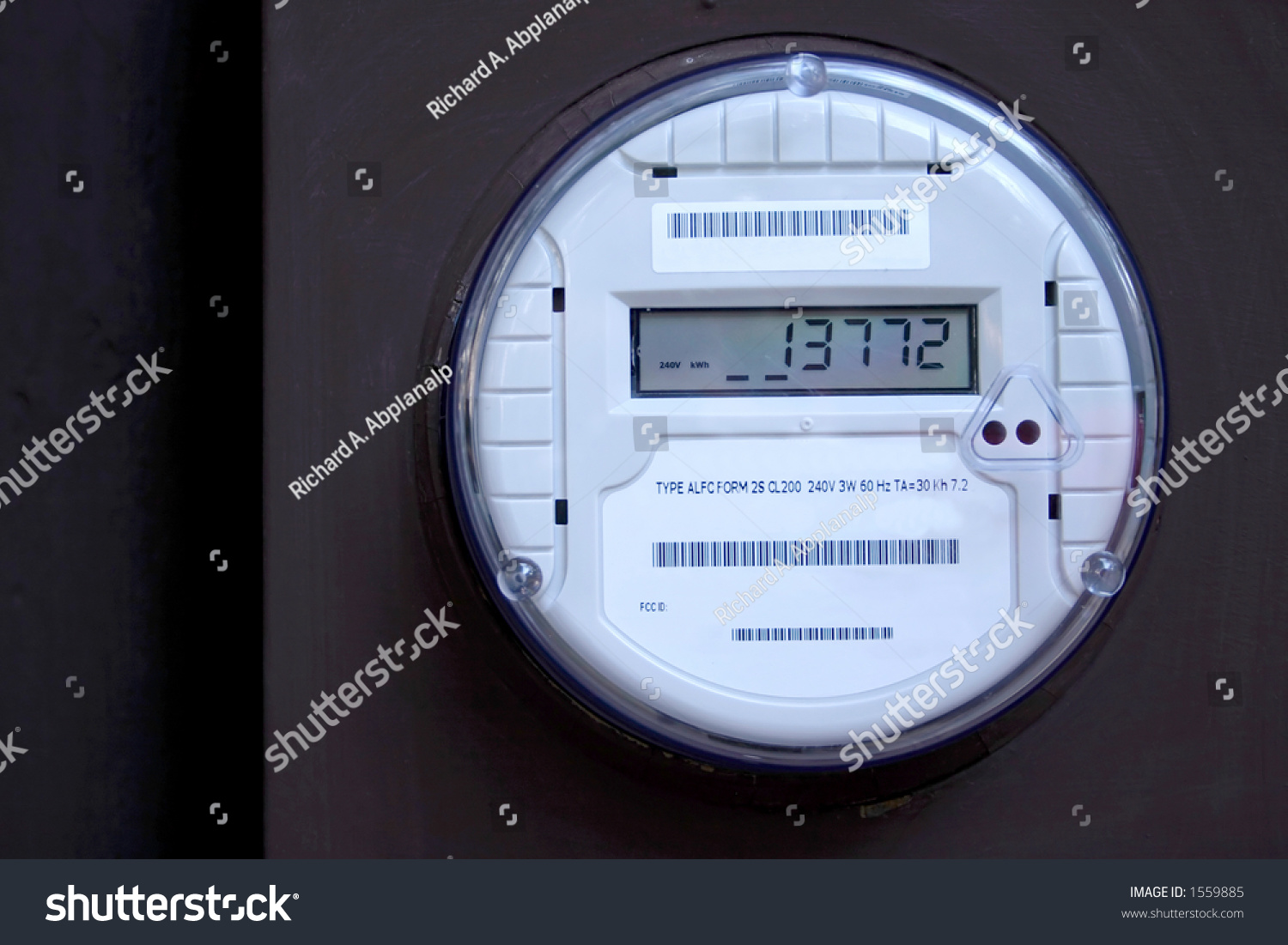 Digital Electric Meter : Digital electric residential meter stock photo