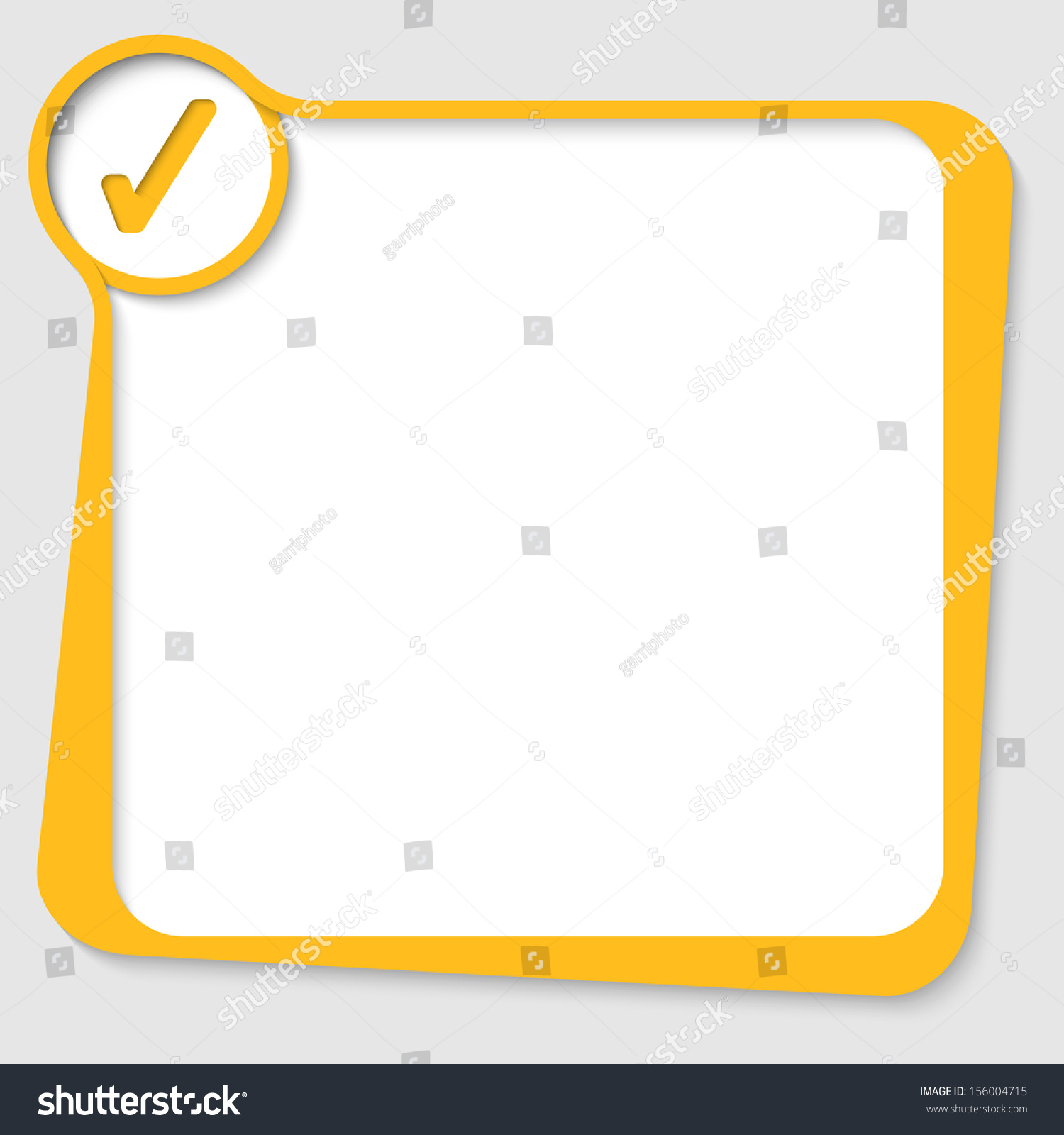 Yellow Text Box Check Box Stock Vector 156004715 - Shutterstock