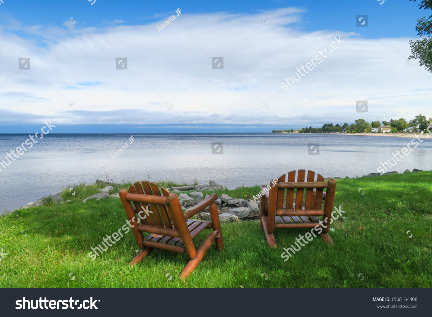 stock-photo-peaceful-view-of-two-wooden-