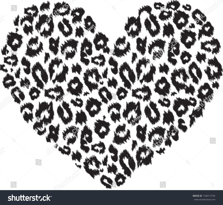Patrón de textura imprimible en forma de corazón con leopardo en ...