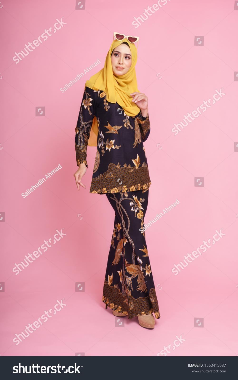 Beautiful Female Model Wearing Black Baju Stock Photo (Edit Now