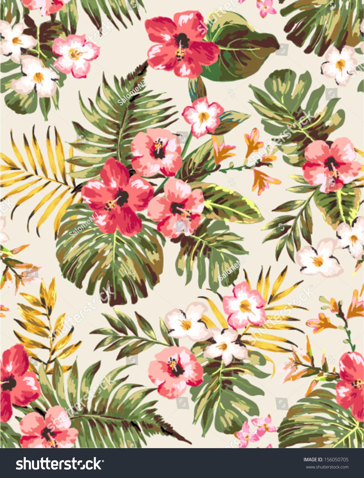 Fashion High Quality Cotton Linen Tropical plant Flowers