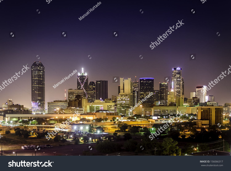 night skyline view of - photo #42