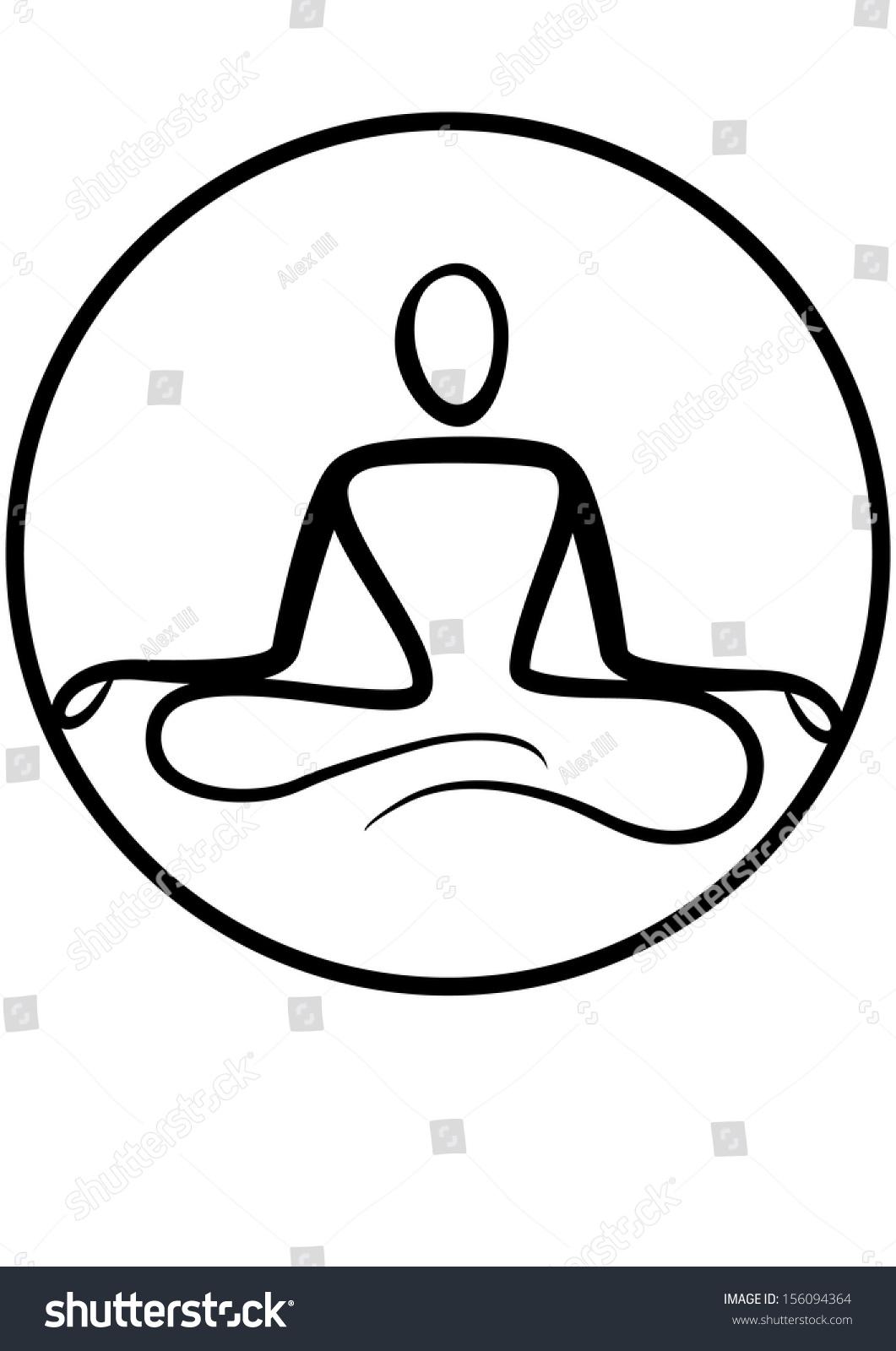 Yoga Symbol Stock Vector 156094364 - Shutterstock