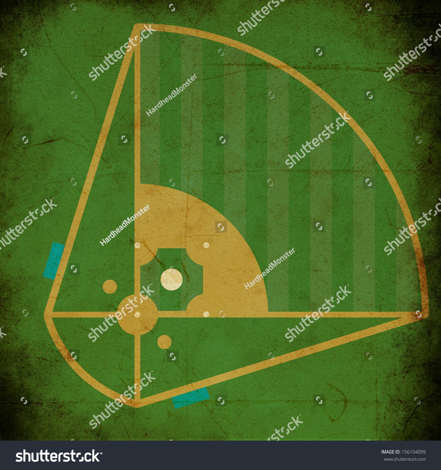 texture vintage background baseball field design stock