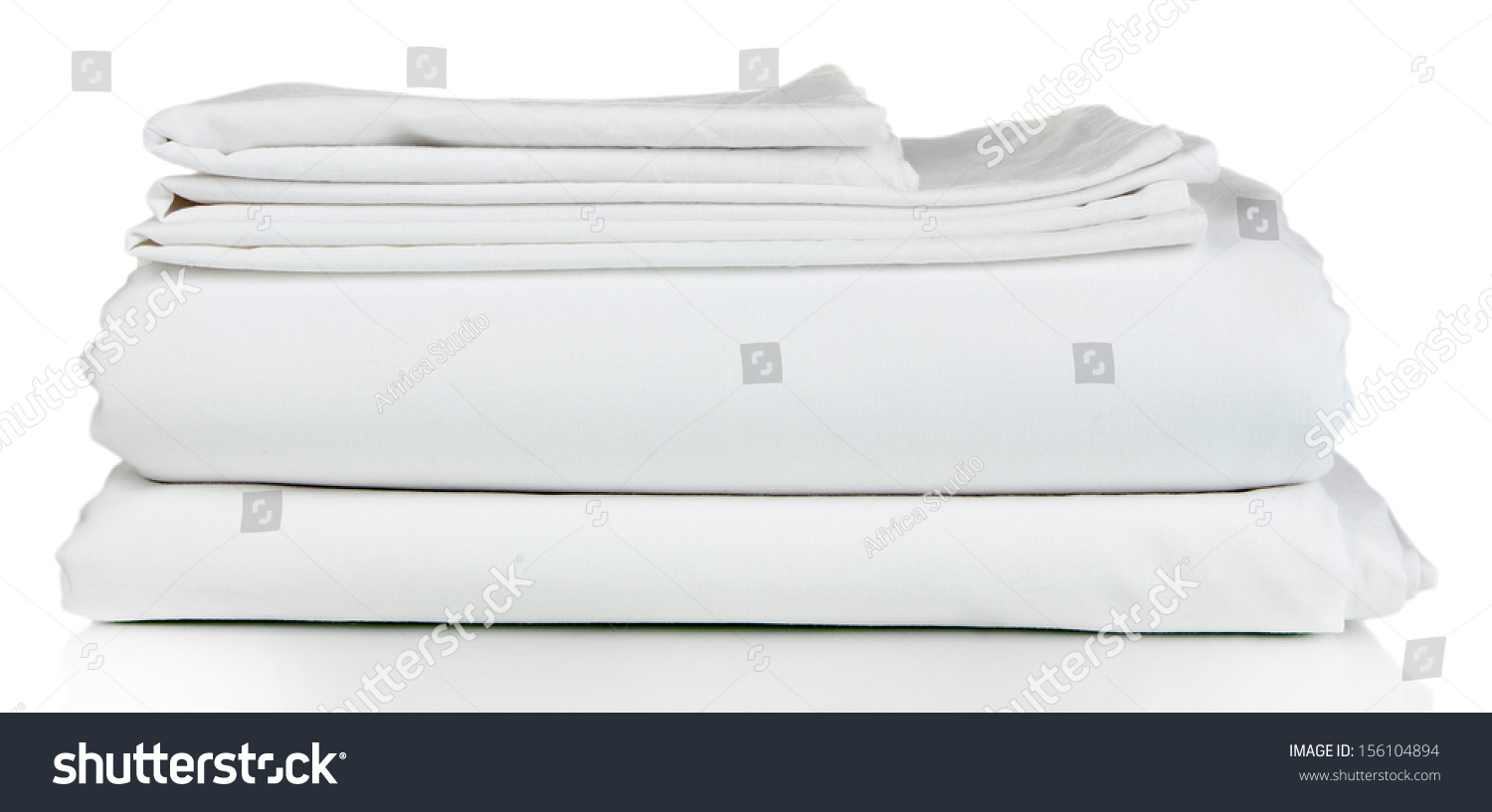 Stack clean bedding sheets isolated on stock photo 156104894 shutterstock - Wash white sheets keep fresh ...