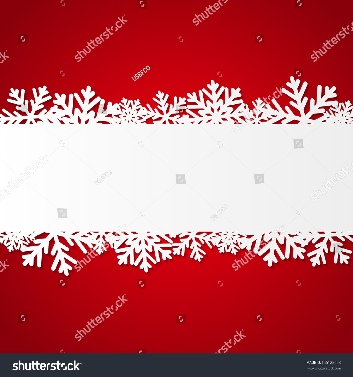 red christmas background paper snowflakes stock vector 156122693