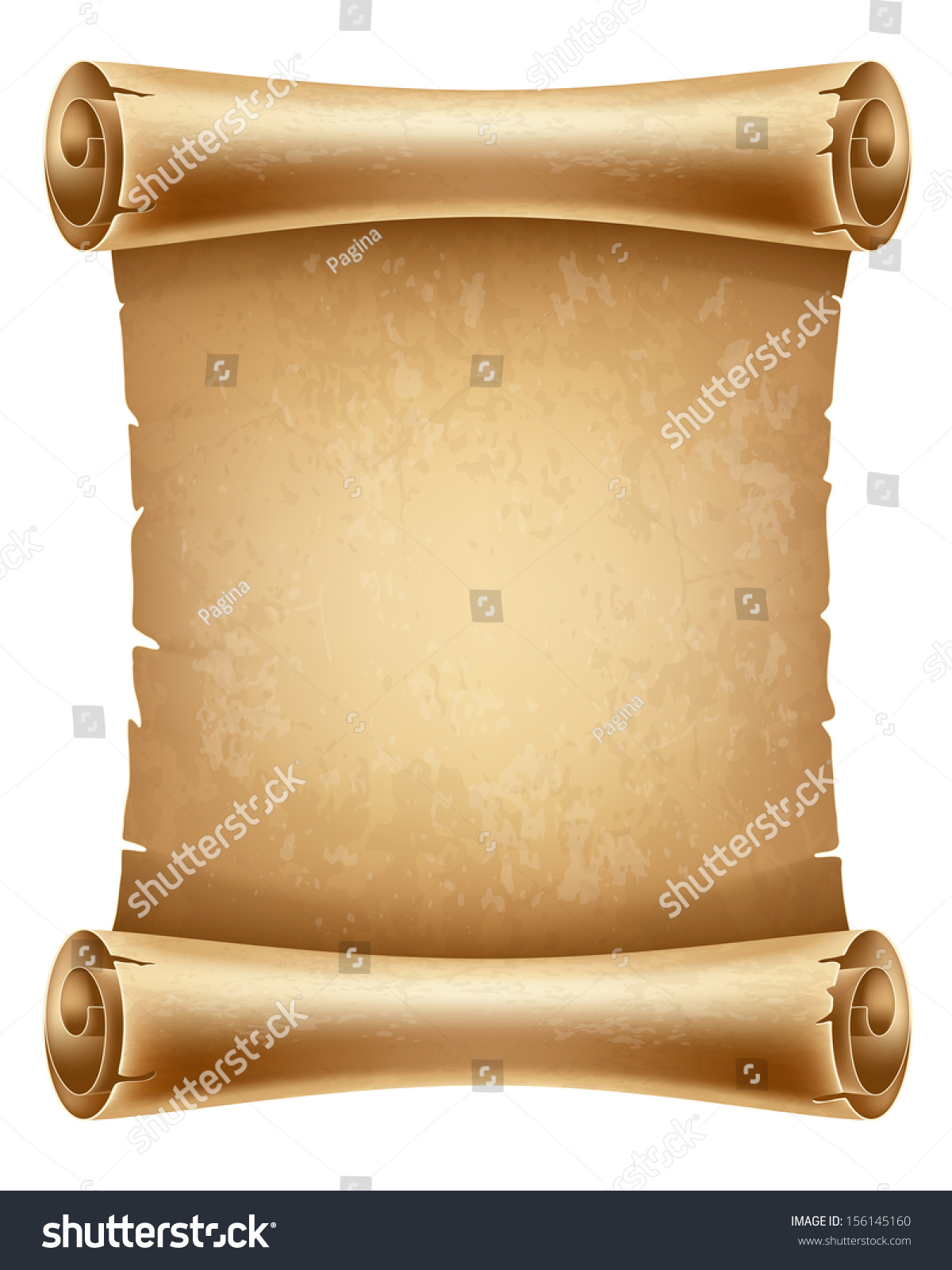Vertical Old Scroll Paper Space Your Stock Vector ...