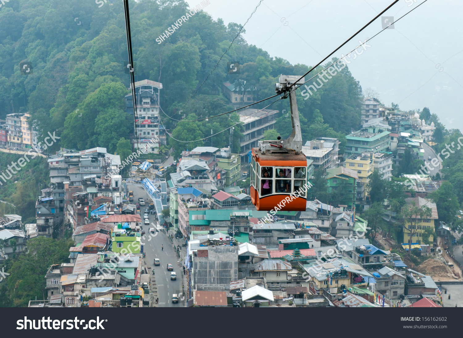 Ganktok India  City pictures : GANGTOK,,SIKKIM,INDIA APRIL 12:Overall Ganktok city, view from Ganktok ...