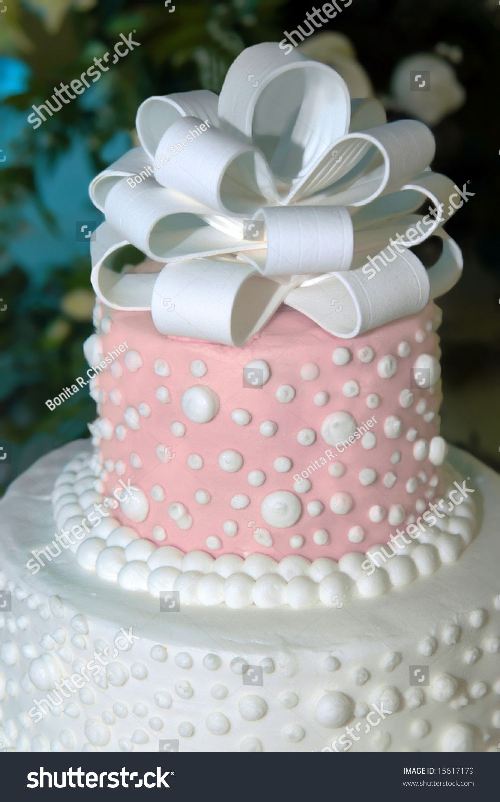 red and white wedding cake toppers beautiful pink white wedding cake topper stock photo 19106