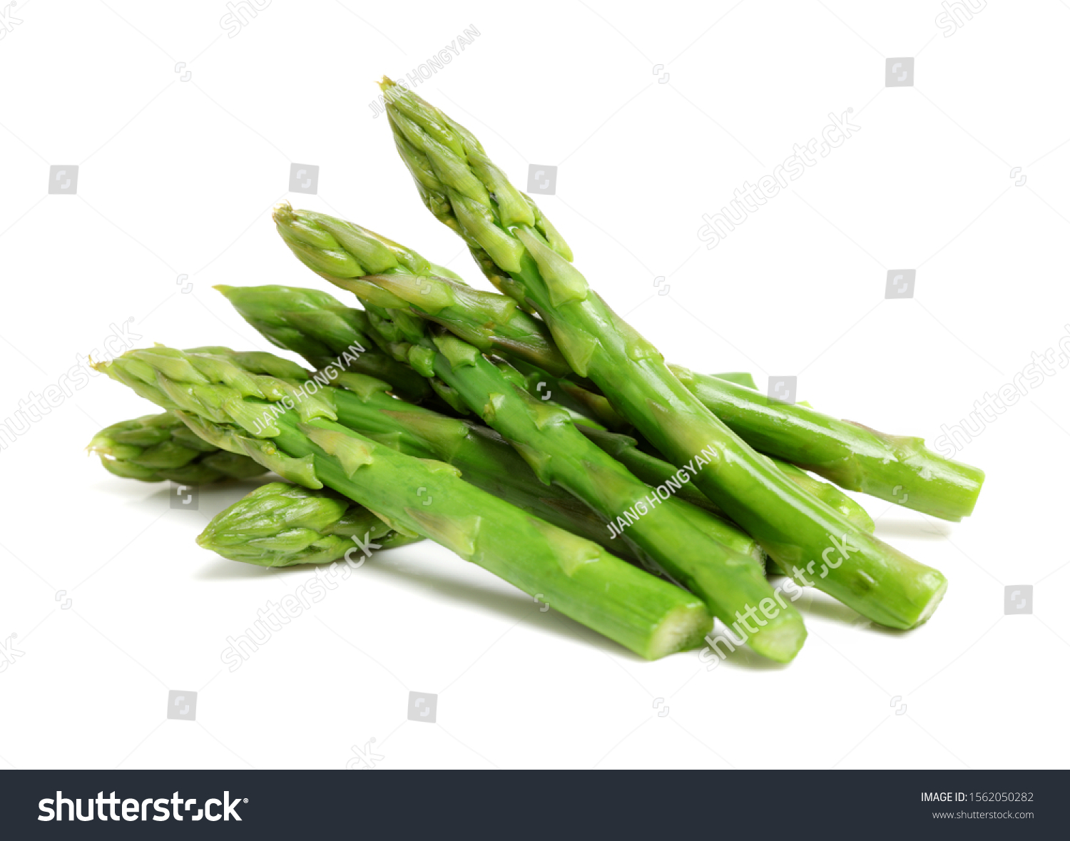 Effective Boiled asparagus on white background #1562050282