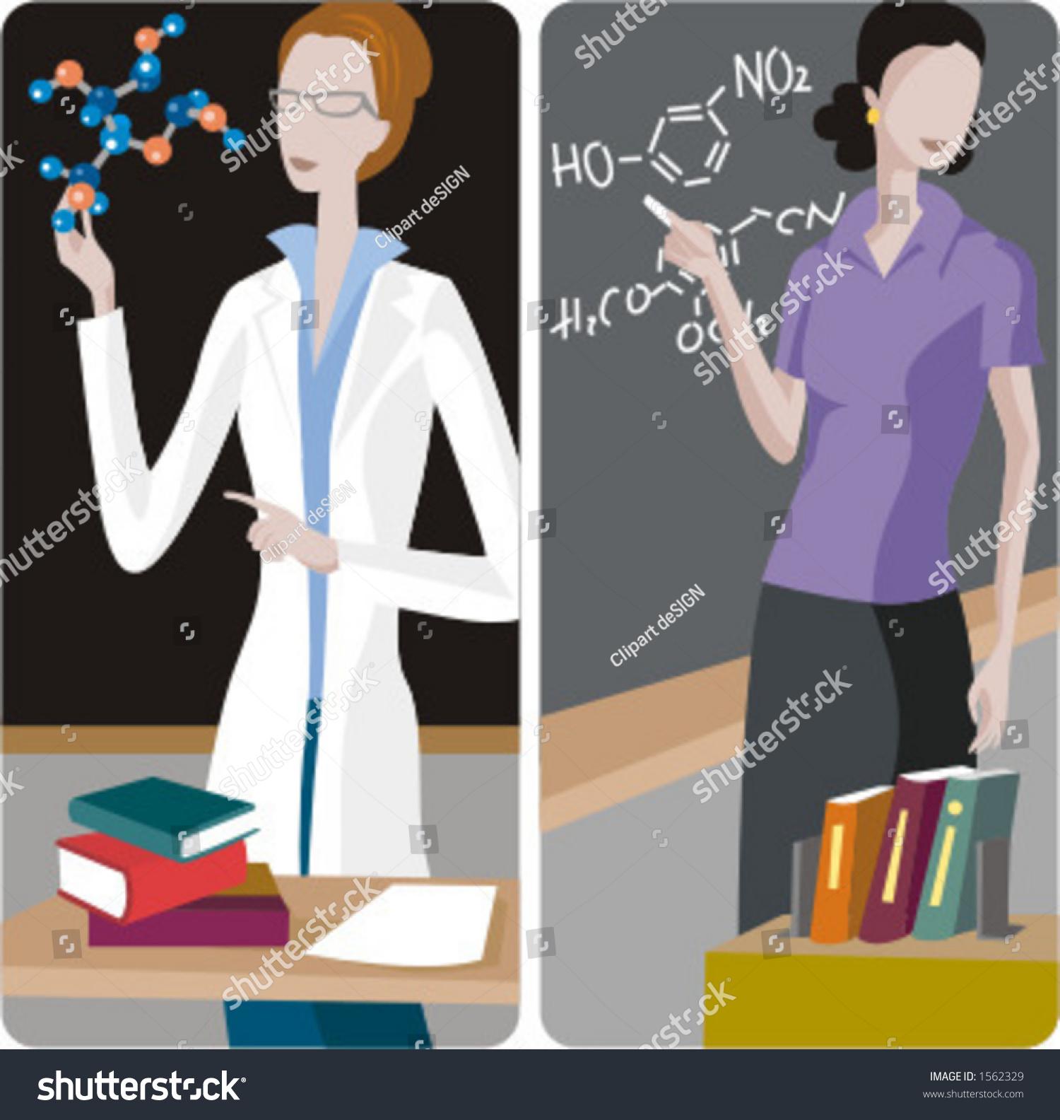 Teacher Illustrations Series 1 Chemistry Teacher Stock Vector ...