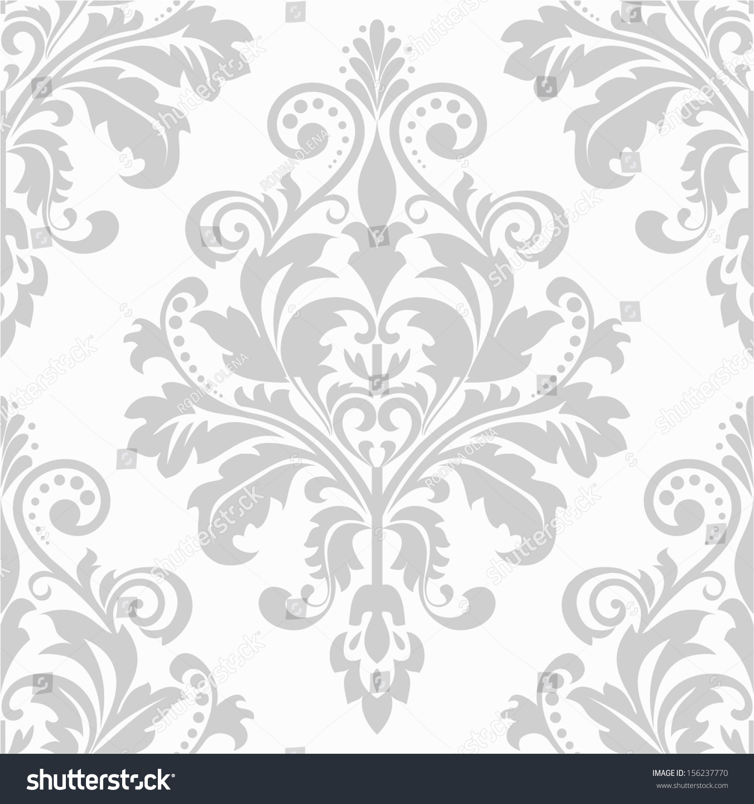Wallpaper style baroque seamless vector background for Baroque style wallpaper