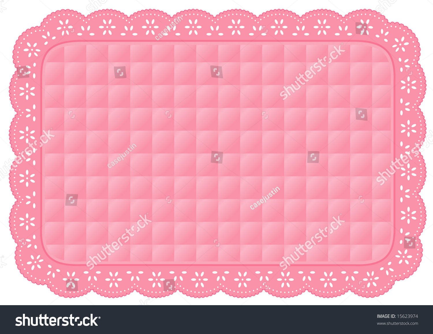 Place mat quilted eyelet lace doily pastel pink background and border for table setting home - Pastel lace wallpaper ...
