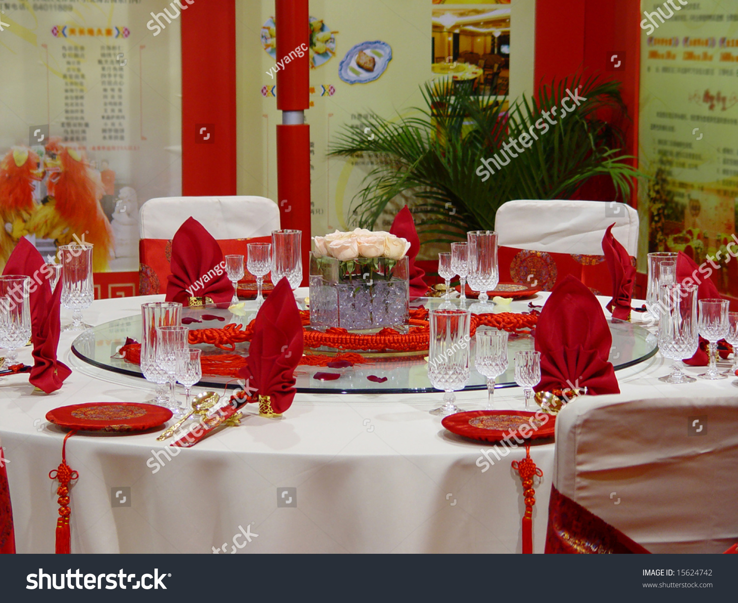Banquet Table Setting Part - 47: Banquet Table Setting For Wedding In China