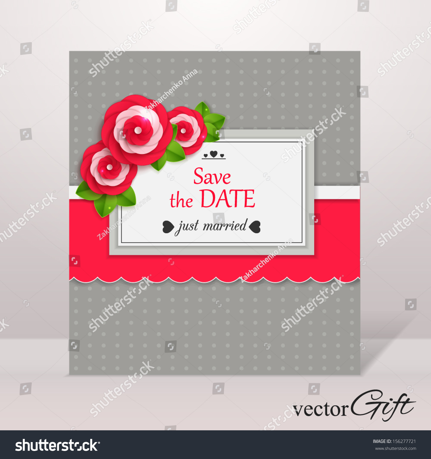 Save Date Flyer Template Paper Flowers Stock Vector - Save the date flyer template