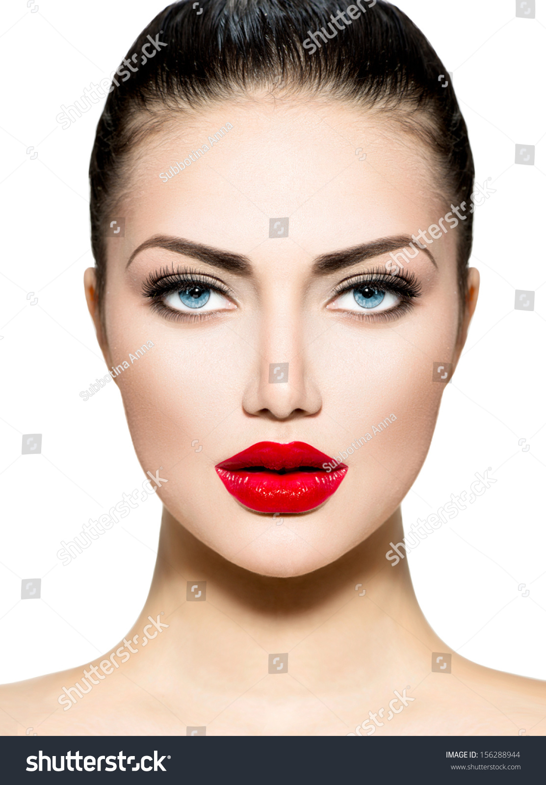 Professional Makeup Artist 11 01 11: Beauty Woman Portrait. Professional Makeup For Brunette