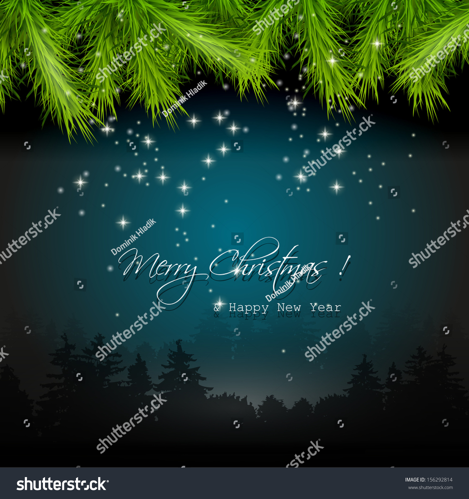 christmas flyer tree leaves on dark background stock vector christmas flyer tree leaves on dark background preview save to a lightbox