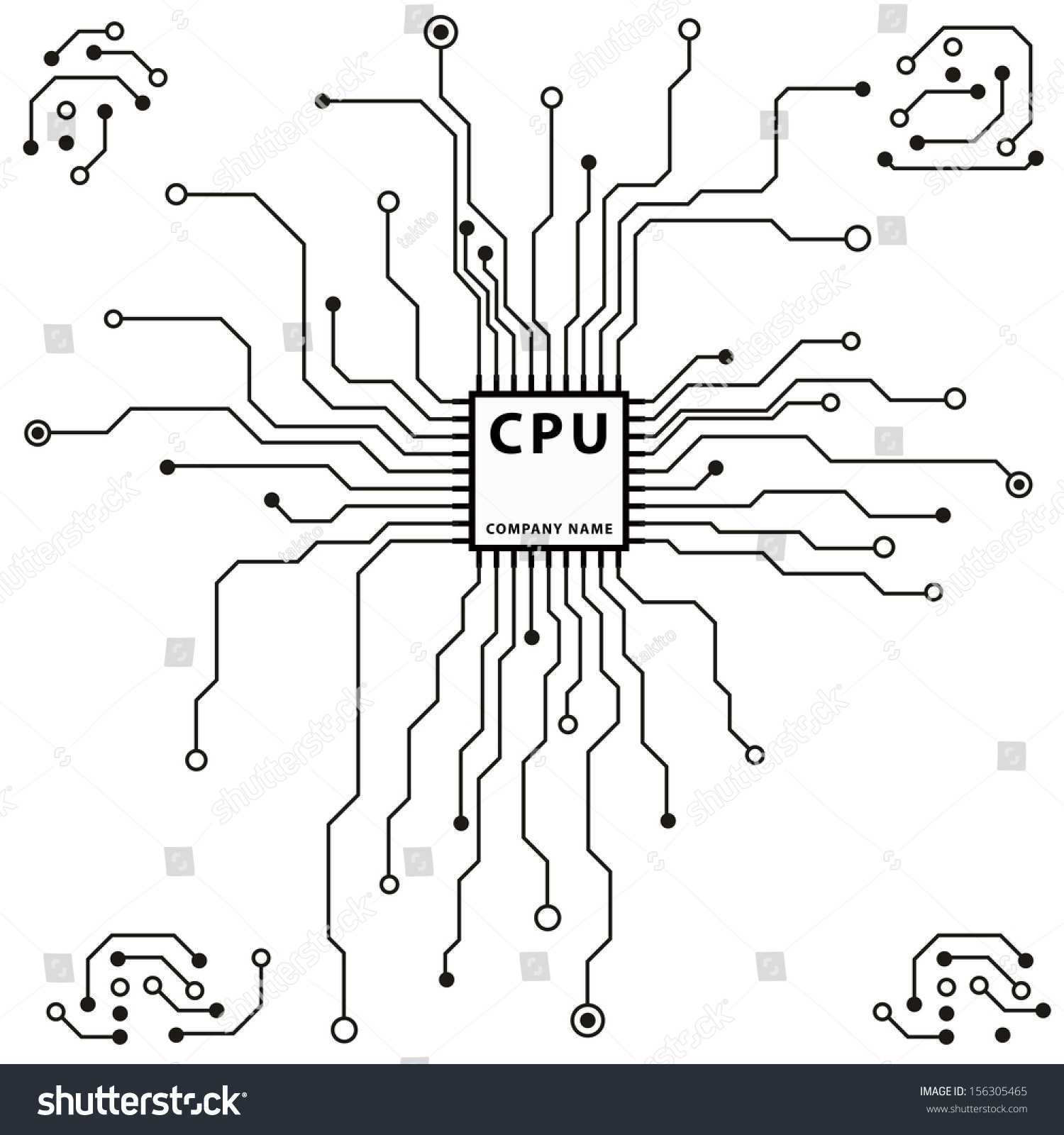 Circuit Board Pattern Abstract Technology Circuit Stock Vector ...